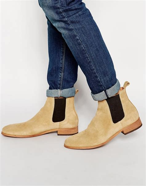 Handmade Mens Clothing - handmade mens fashion ankle high genuine suede leather