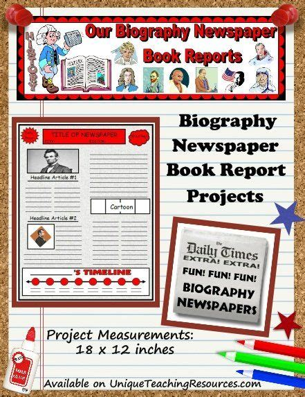 biography or autobiography book report biography book report newspaper templates printable