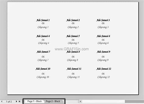 print mail merge di coreldraw contoh print banyak stiker