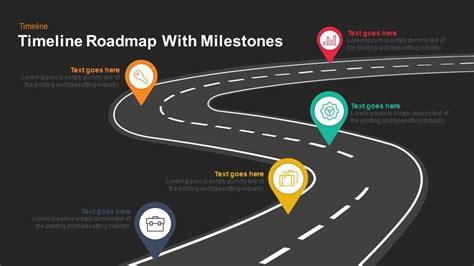 Timeline Roadmap With Milestones Keynote And Powerpoint Template Slidebazaar Milestone Roadmap Template