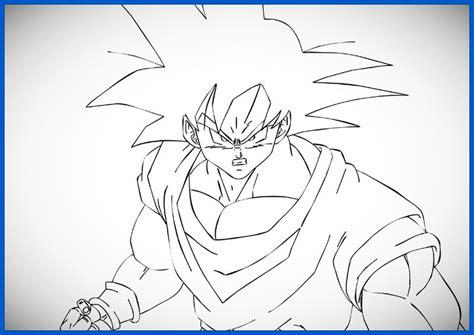 imagenes para dibujar a lapiz de goku imagenes de goku para dibujar de fase 4 archivos dibujos