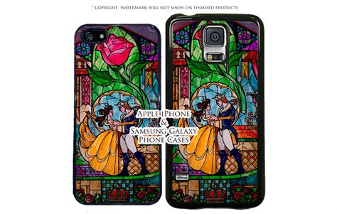 Disney And The Beast Iphone 55s Rubber Casecasingbungasoft disney and the beast stained glass phone for