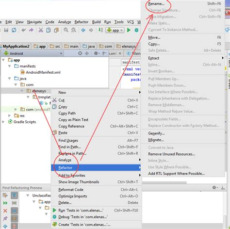 android studio rename layout file android studio rename package stack overflow