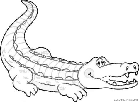 cute cartoon alligator coloring page www imgkid com