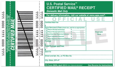 certified mail receipt template mail services print mail services state