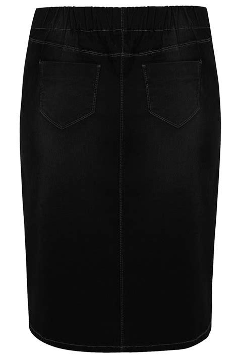 black denim pencil skirt plus size 16 to 36