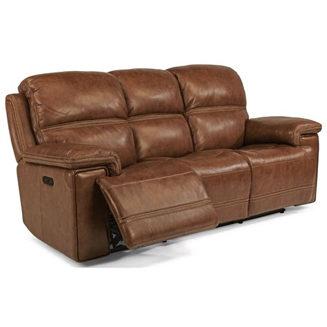 power reclining sofa with usb flexsteel reggae power reclining sofa with power tilt