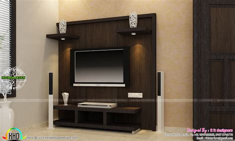 Home Interior Design Tv Unit tv unit furniture dining and bedroom interiors kerala