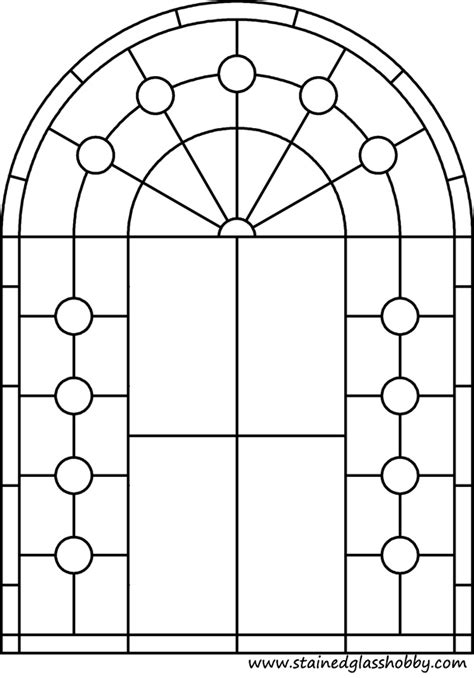 glass template free arch window coloring pages