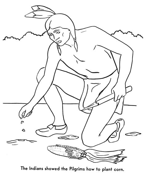 The Pilgrims Coloring Pages Squanto Taught The Pilgrims Squanto Coloring Pages