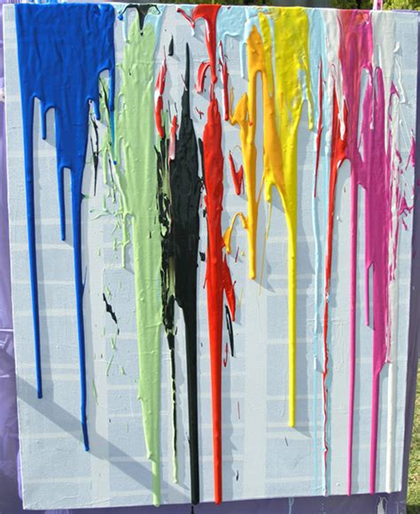 how to drip acrylic paint on canvas 10 outdoor painting activities wildflower ramblings