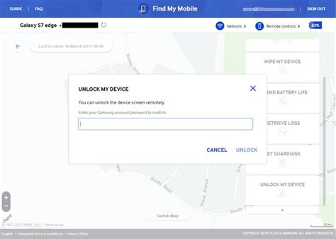 samsung find my mobile what to do if you forget your android pin password or