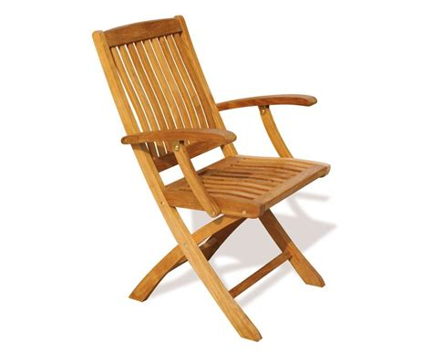 Outdoor Armchairs Uk by Bali Teak Folding Outdoor Armchair