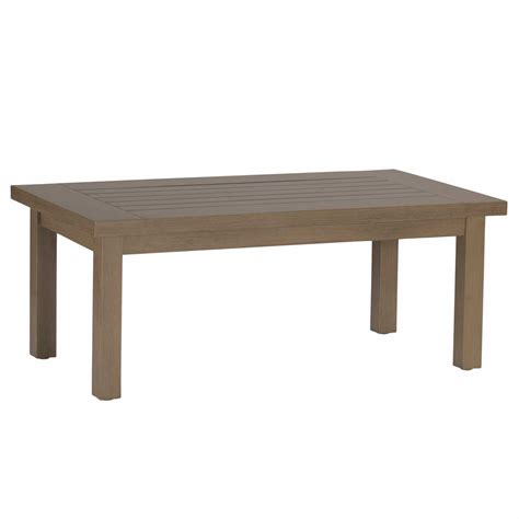 club aluminum rectangular coffee table