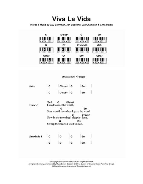 lyrics and piano chords violin violin chords viva la vida violin chords viva