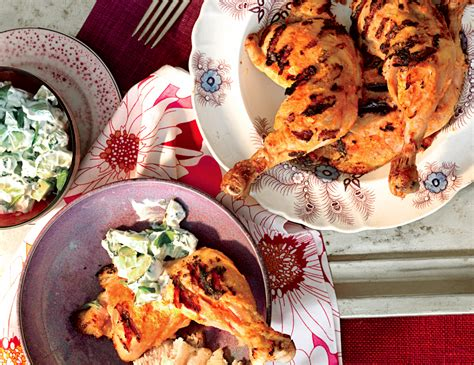 Cooking Light Global Kitchen Grilled Tandoori Chicken Recipe Food Republic