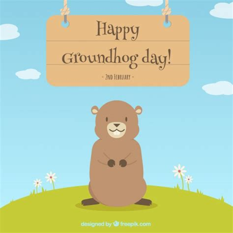 groundhog day free lovely happy groundhog day background vector free