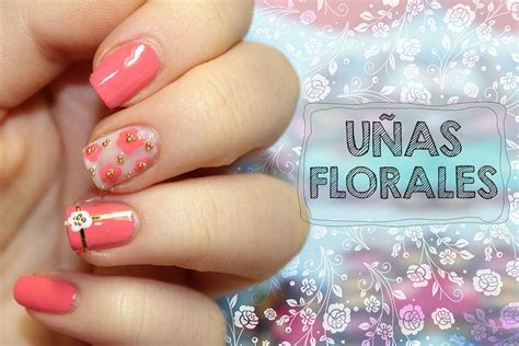 imagenes de uñas acrilicas color coral 120 u 209 as con flores u 209 as decoradas nail art