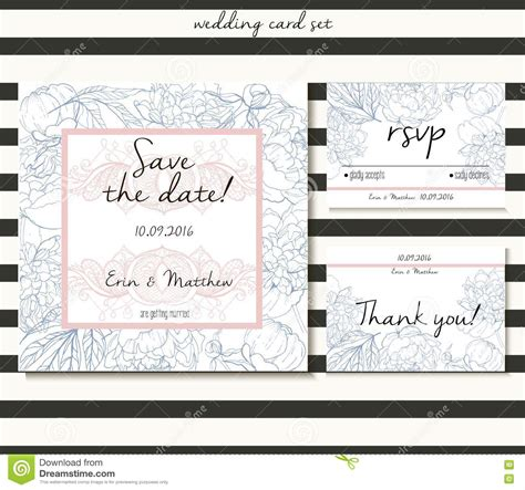 wedding save the date cards free vector wedding card set in tender style includes save the date rsvp and thank you cards