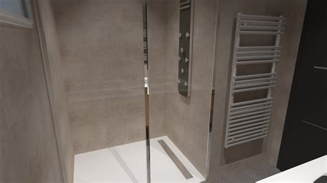 salle de bain italienne grise