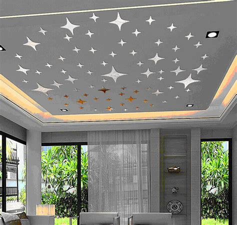 planet design home decor and ceiling ceiling lovely stars planet 3d mirror wall decals best