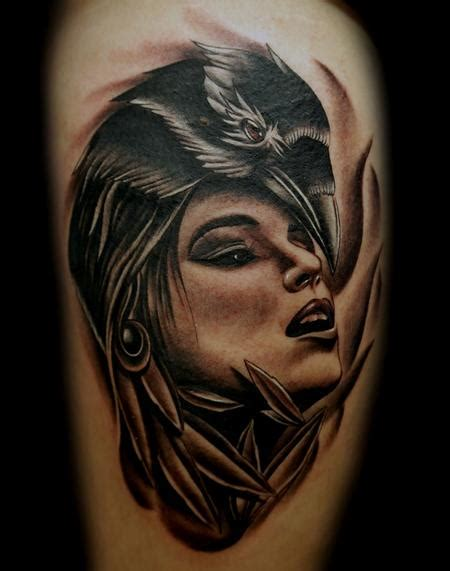 tattoo girl raven petri paronen s tattoo designs tattoonow