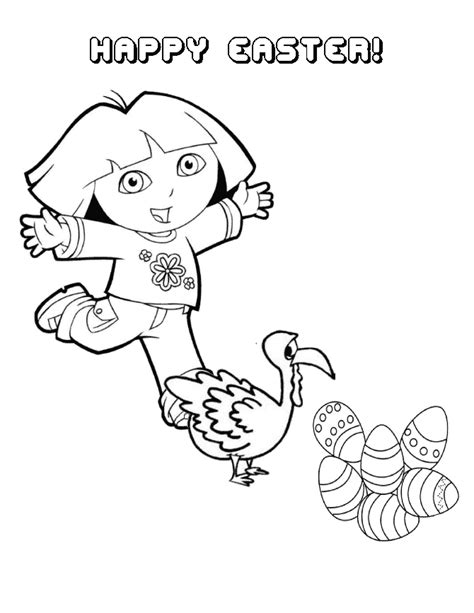 easter coloring pages dora dora and easter eggs coloring page h m coloring pages