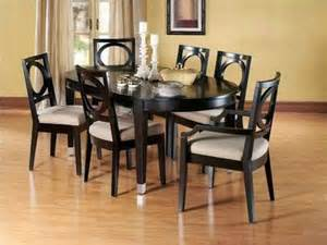 oval dining room table sets furniture hillsdale wilshire round oval dining table rubbed black black oval dining table set