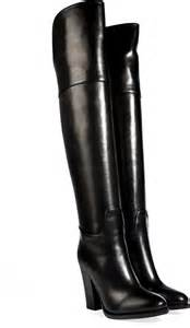 over the knee black leather boots boot 2017