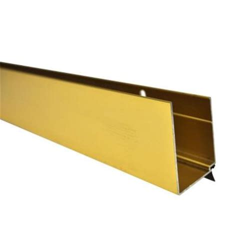 andersen door bottom sweep replacement 36 in brass door sweep for 1 25 in door