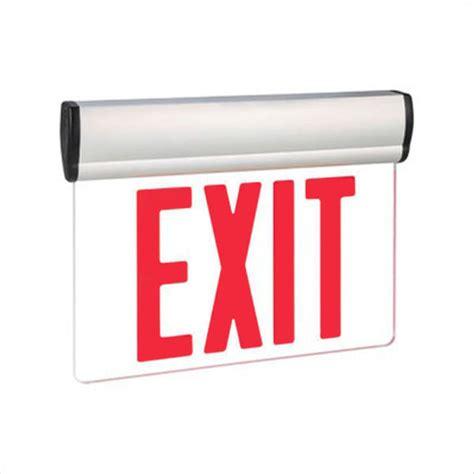 Led Exit Sign led exit sign edge lit letters ex s903wbsrrmba