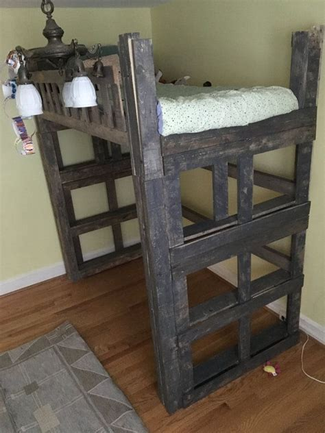 pallet loft bed best 25 pallet loft bed ideas on pinterest