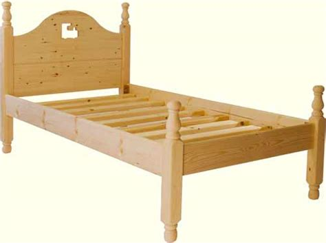 Handmade Pine Beds - handmade pine bed low foot end single