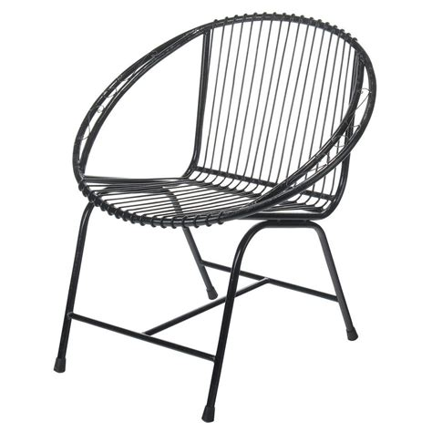 Metal Chair Black Veranda Patio Modern Wire Outdoor Chairs Wire Patio Chairs