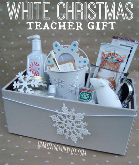 dreaming of a white christmas teacher gift idea with