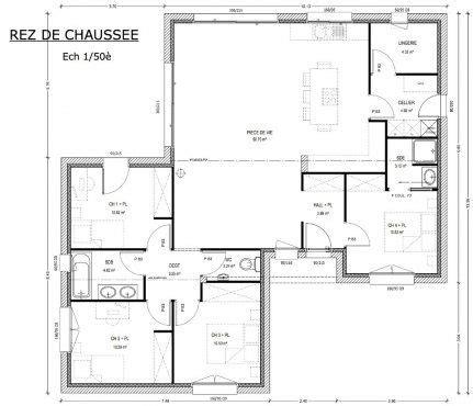 plan de maison 120m2 4 chambres les 25 meilleures id 233 es tendance plan maison 4 chambres