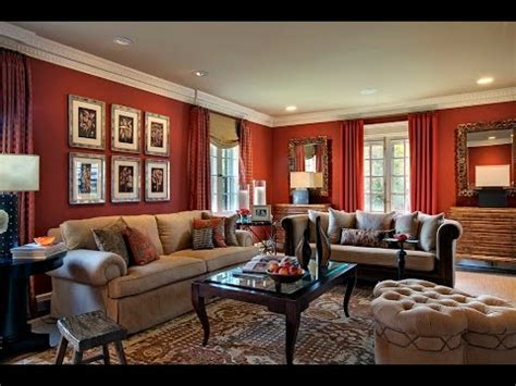 red living rooms wall paint furniture ideas youtube