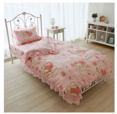 pink bed set twin sanrio my melody bed bedding cover pillow sheets 3pcs set