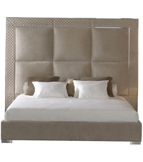 High Headboard Bed Aura Bed With High Headboard Rugiano Milia Shop