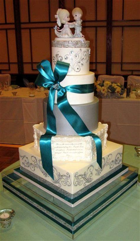 Teal and Silver Wedding Ideas   Silver, white and teal