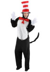 cat in the hat halloween costumes cat in the hat deluxe costume dr seuss costumes for adults