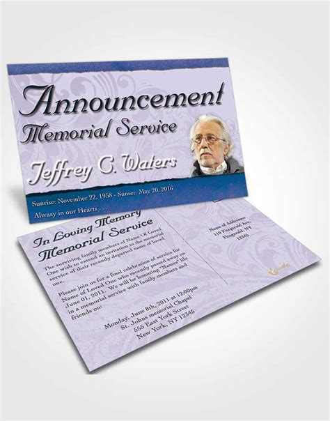 announcement card template destiny