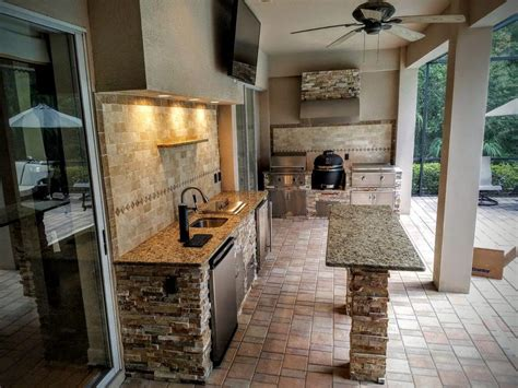 kitchen backsplash with patio doors 27 best outdoor kitchen ideas and designs for 2017