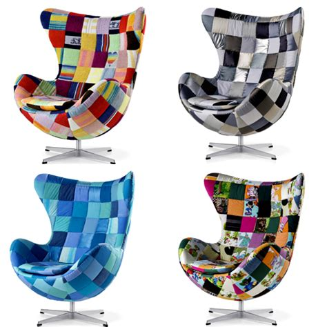 Patchwork Egg Chair - 50th anniversary of the egg chair the style files