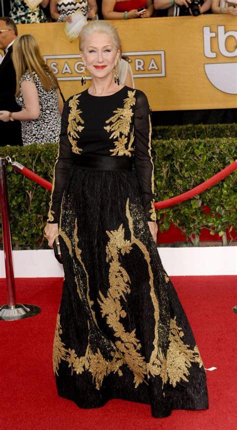 Helen Mirren Has At Sag Awards by Sag Awards 2015 Best Dressed Helen Mirren