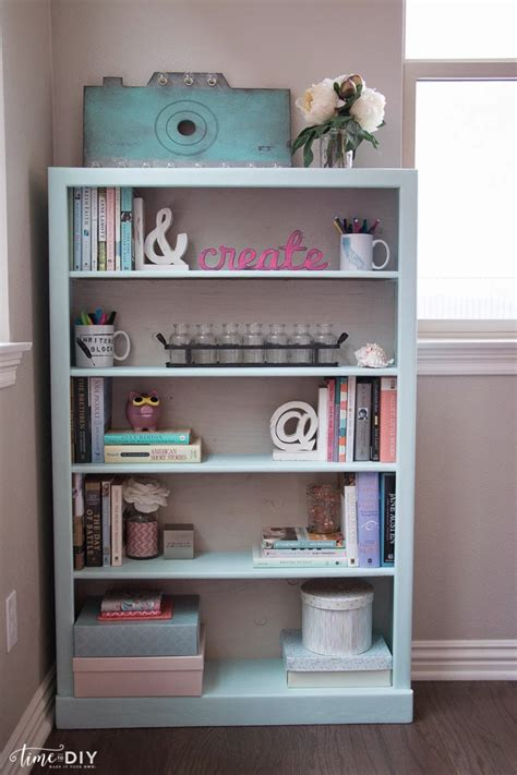 chalk paint bookshelf 30 cool bookcases painted with chalk paint yvotube