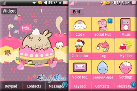 cute themes for samsung corby 2 corby 2 themes kawaii cupcake theme by anonymous