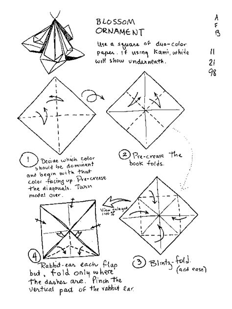 paper ornament templates origami ornaments