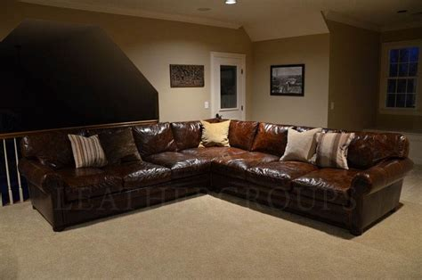 Franklin Sofa Michael S Langston Leather Sectional Sofa The Leather