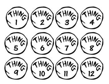This Listing Is For 3 Sets Of Numbered Tags Inspired By Thing 1 And Thing 2 From Dr Seuss S Thing 1 Editable Template